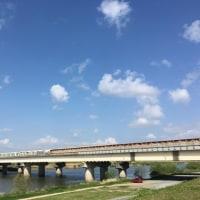 山陽新幹線遠賀川橋梁/九州自動車道遠賀川橋