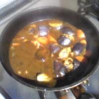 作り置き、茄子カレー
