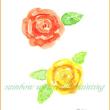 クーピーで、花を描いてみた