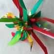 折り紙のちょっと大きなフレーベルの星~クリスマスカラーで♪