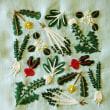 刺繍 - 春の七草