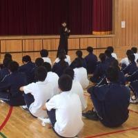 講演会&応援 * 西ノ島町立西ノ島中学校