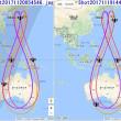 3つの8の字衛星の昇交点時刻の幾何学的特徴とは