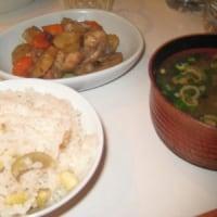 2009年11月8日(日) 夕食(栗ご飯等)