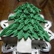2017 クリスマスツリーケーキ試作(手作りケーキ)