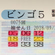 ビンゴ5第75回の予測と当選番号
