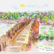 世界わがスケッチの旅...アディジェ川...ベローナ