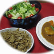 ピース・・・豚肉と野菜たっぷりカレー。