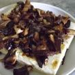 豆腐ステーキ、茸の醤油バターソース。