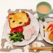 鶏ハムと ター菜のソテーの朝ごはん