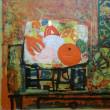お盆を思い出した、画家・ アイズピリの「菓物」の絵を見て