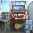 静岡市葵区 3階建2世帯住宅 鉄骨工事中