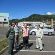 集中豪雨で被災した北海道石狩市浜益に急行しました。