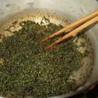 青紫蘇の実で佃煮を作る