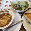 ハーフトースト&グリーンサラダ with オニオングラタンスープ@Jョナサン