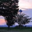 ●夕暮れの大乗寺丘陵公園 夕日、夕焼けと金沢市の街並み