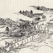 大頭神社の旧社地碑と鳥居