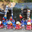 <都祁吐山・下部神社> 秋の例祭で太鼓踊りを奉納