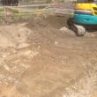 今日から新しい基礎工事に取り掛かりました。