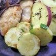 椎茸とさつまいものバター焼き