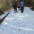 12 篁山(竹林寺522m:東広島市)登山  全面雪に覆われた路も