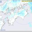 平成29年10月23日・02:30の雨雲レーダーから