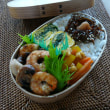 お弁当(海老&マッシュルームのソテー・ウスターソース風味)