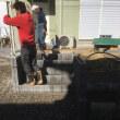 大磯町石神台にてコンクリート打設