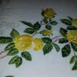 黄色い薔薇の刺繍