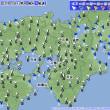 2月20日 アメダスと天気図。