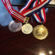 親子3人でメダル