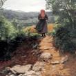 スマホ旅行をしている女性を示す1860年の絵画?