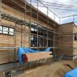 都窪郡早島町の住宅新築現場の外装下地工事中