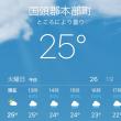 気温25度まで上昇