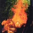 ゼロ磁場 西日本一 氣パワー 開運引き寄せスポット 12月護摩祭りの火炎写真(12月16日)