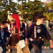 竹島の夕日と八百富神社の祭典