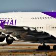 今は見れないBランシーンだ❗️エアバス A380. タイ国際航空 延着だったのかなぁ❓     NO 1