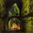 養老渓谷の二階建トンネル