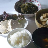 メカジキのソテーの一汁三菜(かるぴか)