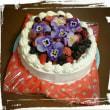 手作りケーキで誕生日