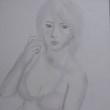 【デッサン・絵画】「水着の女」【鉛筆・色鉛筆】
