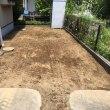 酷暑の駐車場掘削作業 千葉 印西