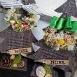 色々なミニサイズのクリスマスツリーとリース(o^-^o)