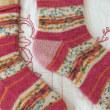 手編み靴下 作品NO.171