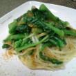 【生パスタ】菜の花とカラスミのペペロンチーノ