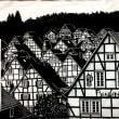 「ドイツ・フロイデンベルク」の街並み 下絵 A2サイズ !!