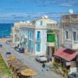 2004.04.04 チュニジア ラ・マルサ: 四月のマルサ海岸一景