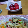 本日の朝餉 夏野菜のスパゲッティ