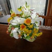 祝いの花。