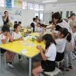 7月10日 原里小学校で、日本茶教室